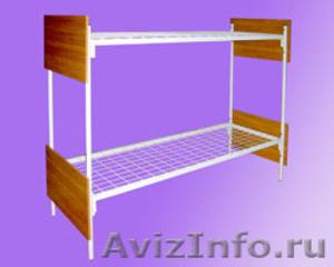 кровати двухъярусные, кровати металлические одноярусные для строителей и турбаз - Изображение #4, Объявление #695641