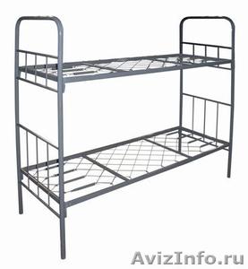 кровати двухъярусные, кровати металлические одноярусные для строителей и турбаз - Изображение #3, Объявление #695641
