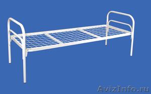 Кровати металлические одноярусные, для бытовок, кровати двухъярусные оптом - Изображение #1, Объявление #1480250