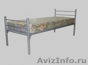 Кровати металлические одноярусные, для бытовок, кровати двухъярусные оптом - Изображение #4, Объявление #1480250