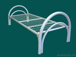 Кровати металлические одноярусные, для бытовок, кровати двухъярусные оптом - Изображение #2, Объявление #1480250